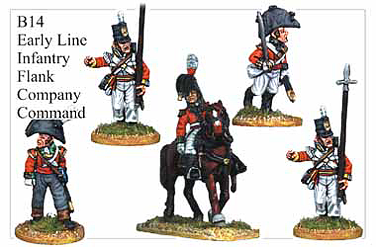 B014  Early Line Infantry Flank Company Command