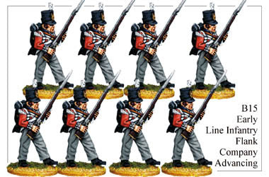 B015  Early Line Infantry Flank Company Advancing