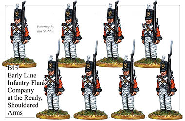 B017  Early Line Infantry Flank Company Shouldered Arms