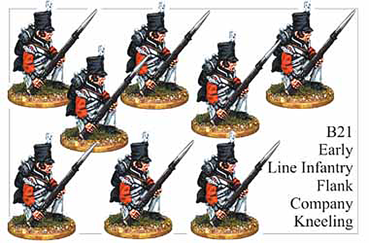 B021  Early Line Infantry Flank Company Kneeling