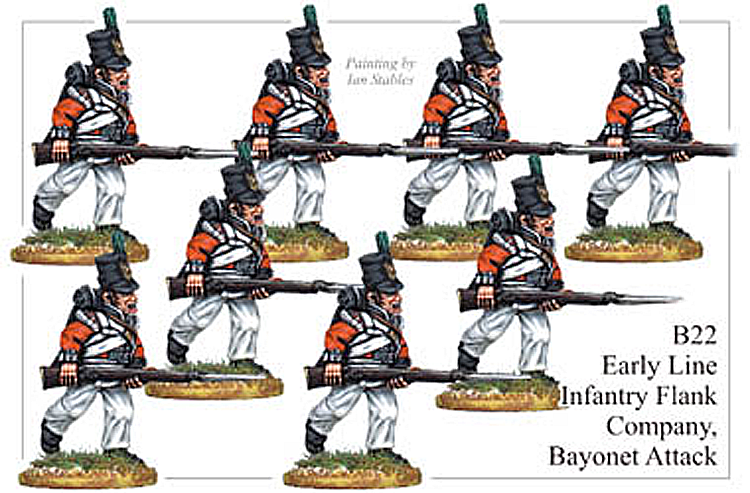 B022  Early Line Infantry Flank Company Bayonet Attack
