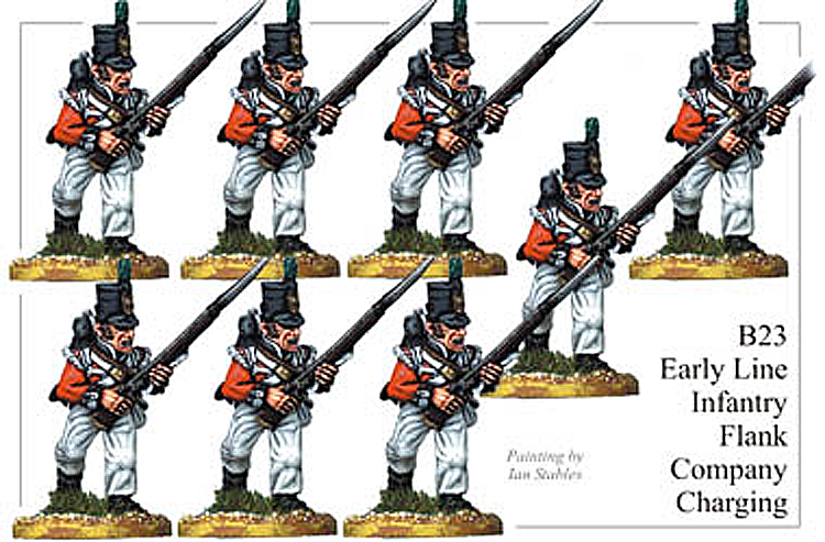 B023  Early Line Infantry Flank Company Charging