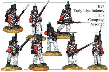 B024  Early Line Infantry Flank Company Assorted