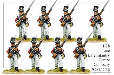 B028  Late Line Infantry Centre Company Advancing