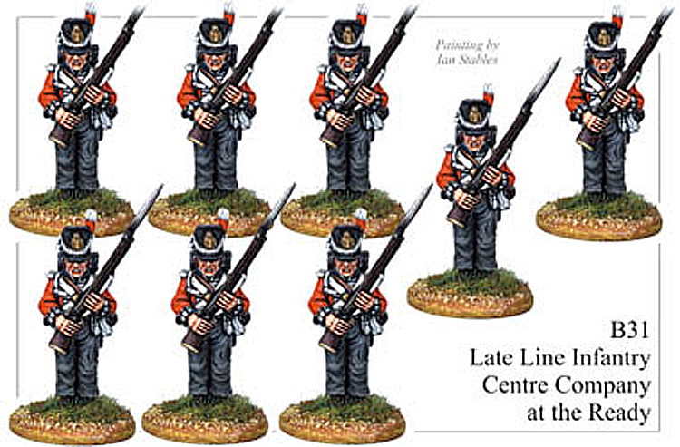 B031  Late Line Infantry Centre Company At the Ready