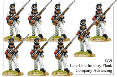 B039 Late Line Infantry Flank Company Advancing