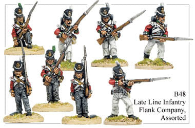 B048 Late Line Infantry Flank Company Assorted