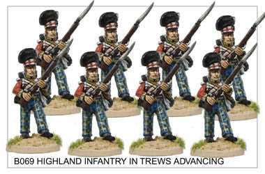 B069 Highlander Centre Company in Trews Advancing