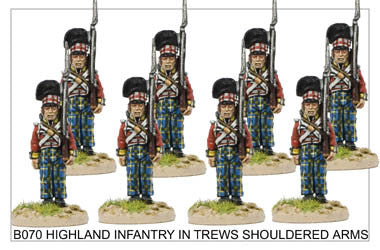 B070 Highlander Centre Company in Trews Shouldered Arms