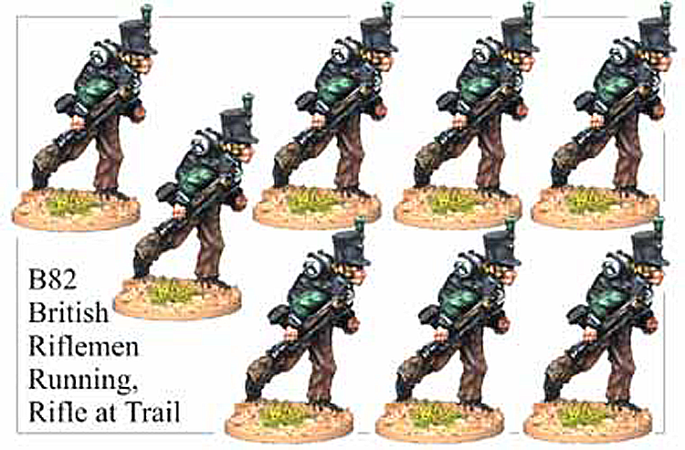 B082 Riflemen Running at Trail