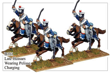 B101 Late Hussars Wearing Pelisse Charging