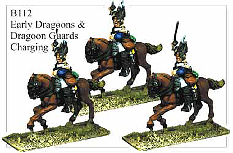 B112 Early Dragoons or Dragoon Guards Charging