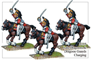 B118 Late Dragoons or Dragoon Guards Charging