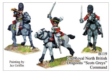 "B119 2nd Royal North British Dragoons ""Scots Greys"" Charging"