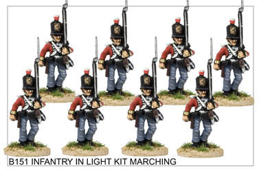 B151 Infantry in Light Kit Marching