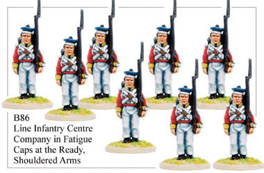 B086 Line Infantry Centre Company in Fatigue Caps Shouldered Arms