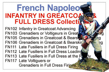 BCFN023 - French Napoleonic Infantry In Greatcoats And Full Dress Collection