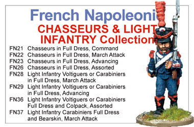 BCFN003 - Napoleonic French Light Infantry Chasseurs Collection