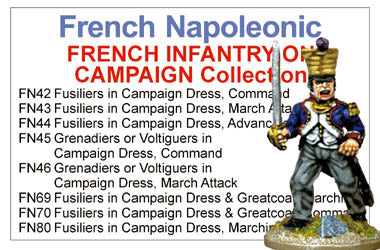 BCFN004 - Napoleonic French Infantry In Campaign Dress Collection