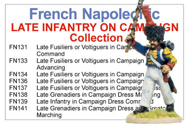 BCFN007 - French Napoleonic Late Infantry On Campaign Collection