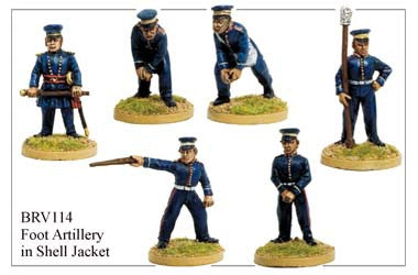 BRV114 British Artillery in Shell Jackets & Peaked Forage Caps