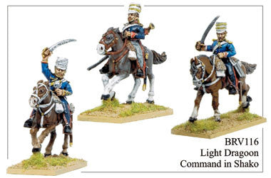 BRV116 Light Dragoons in Covered Shakos Command