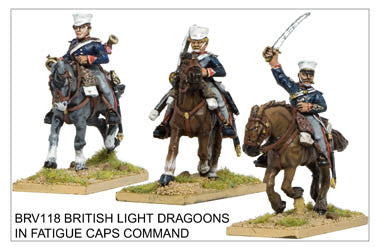 BRV118 Light Dragoons in Covered Caps Command