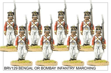 BRV129 Bengal or Bombay Infantry in Shako Marching