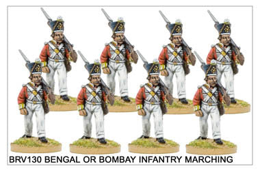 BRV130 Bengal or Bombay Infantry in Shako Marching 2