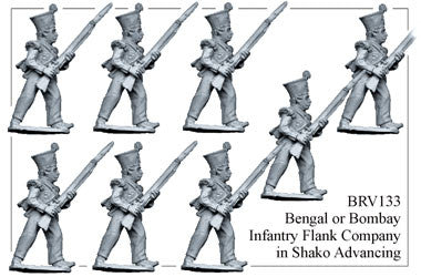 BRV133 Bengal or Bombay Infantry in Shako Advancing, Flank Company