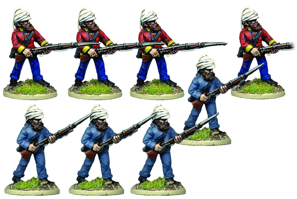 BRV208 British Infantry in Shell Jacket & Wicker Helmet Advancing