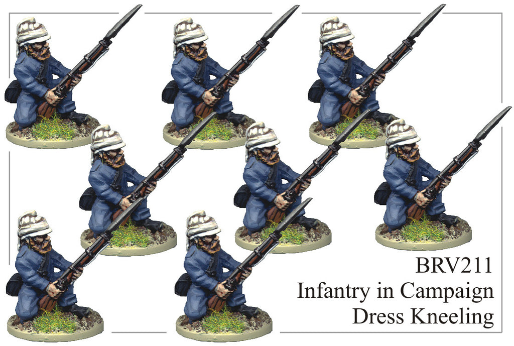 BRV211 British Infantry in Shell Jacket and Wicker Helmet Kneeling