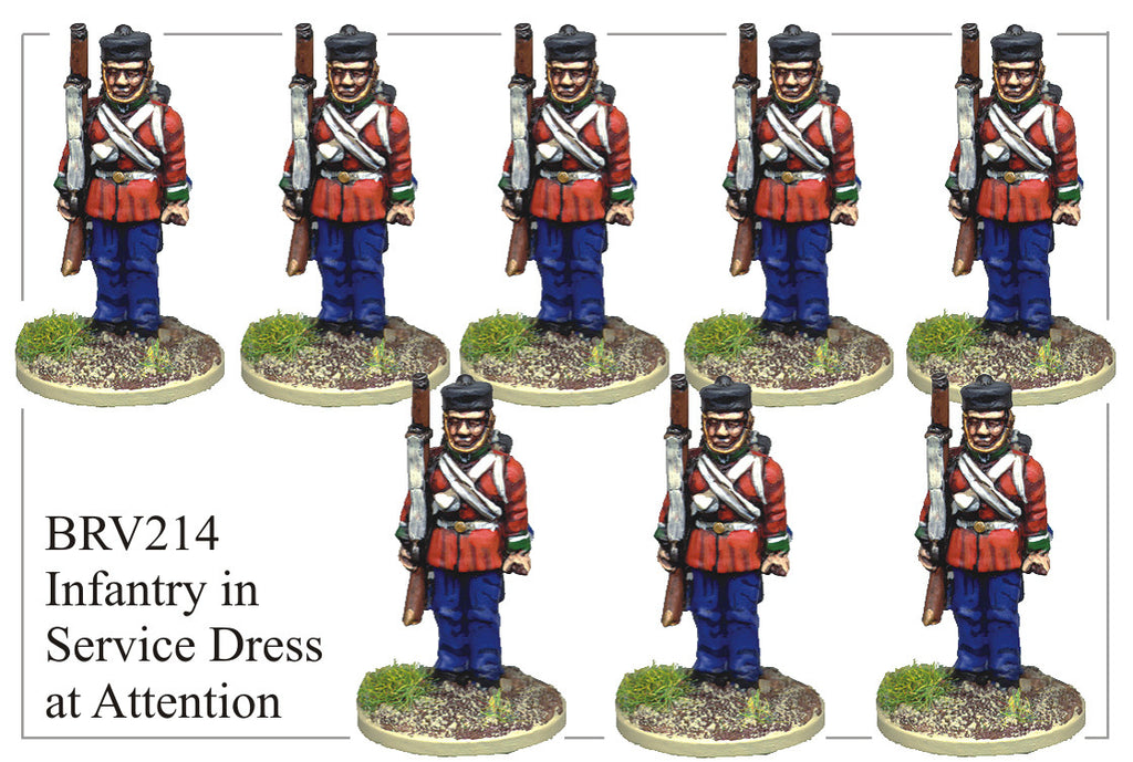 BRV214 British Infantry in Service Dress at Attention