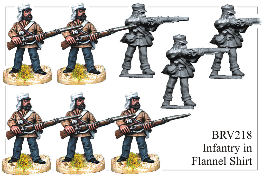 BRV218 British Infantry in Flannel Shirt