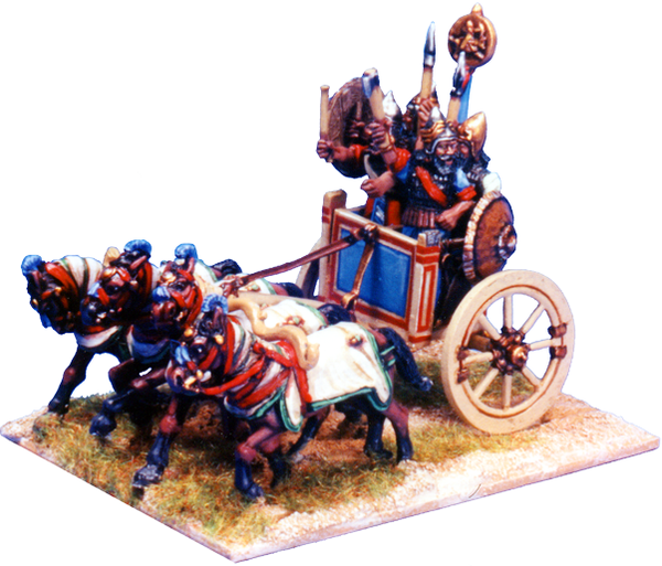 BSASS003 - Four Man, Four Horse Heavy Command Chariot