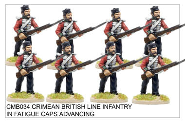 CMB034 Line Infantry in Fatigue Caps Advancing