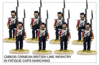 CMB035 Line Infantry in Fatigue Caps Marching