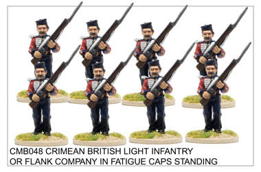 CMB048 Light Infantry or Flank Company in Fatigue Caps Standing