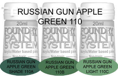 COL110 - Russian Gun Apple Green