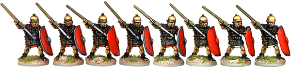 CR013 - Armoured Legionaries Throwing Pilum, No Crest