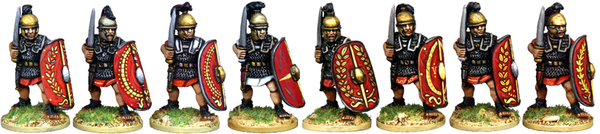 CR014 - Armoured Legionaries Advancing with Gladius, Horsehair Crest