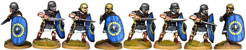 CR025 - Gallic Legionaries Attacking with Gladius