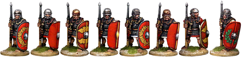 CR034 - Armoured Legionaries at the Ready, No Crest