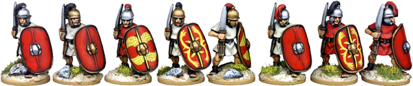 CR041 - Unarmoured Legionaries Advancing with Gladius, Horsehair Crest