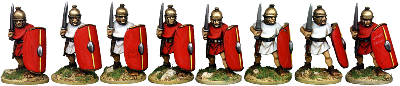CR042 - Unarmoured Legionaries Advancing with Gladius, No Crest