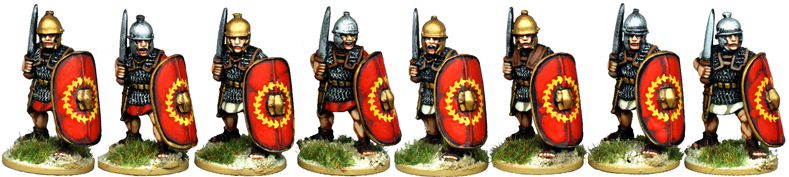 CR044 - Armoured Legionaries Advancing with Gladius, No Crest