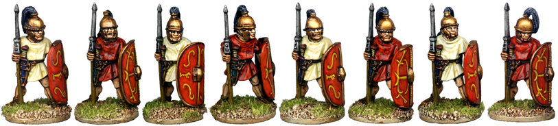 CR046 - Unarmoured Legionaries at the Ready, Horsehair Crest