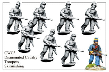 CWC003 Dismounted Cavalry Troopers Skirmishing