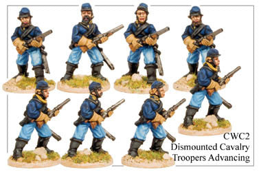 CWC002 Dismounted Cavalry Troopers Advancing
