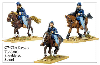 CWC003A Cavalry Troopers, Shouldered Sword